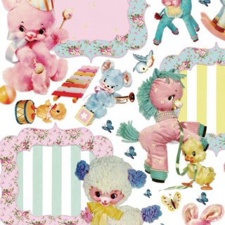 <img class='new_mark_img1' src='https://img.shop-pro.jp/img/new/icons13.gif' style='border:none;display:inline;margin:0px;padding:0px;width:auto;' />転写紙 『Vintage Doll フレームコレクション 』 白磁 陶芸 焼成用 A4サイズ【Roi&Li'l】ポーセリンアート