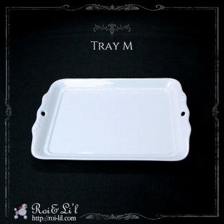 白磁『トレイM』【Roi&Li'l】ポーセリンアート