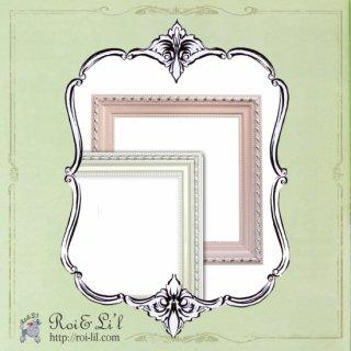 20cmタイル専用フレーム『パールフレーム』2色【Roi&Li'l】ポーセリンアート