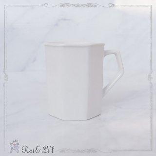 白磁『八角マグカップ』