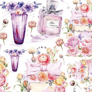 インテリアタイルアート転写紙『Misty.bouquet』A4