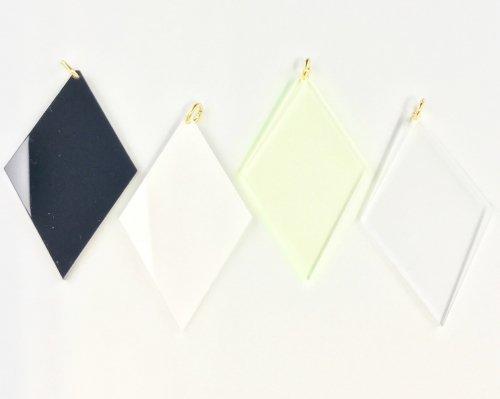 アクリルパーツ ダイヤモンド(4色セット)<br>