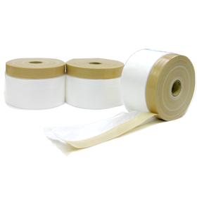 布テープ付ポリマスカーベージュミニ 1100mm/25mm (1巻/250円 60巻入/11,340円)