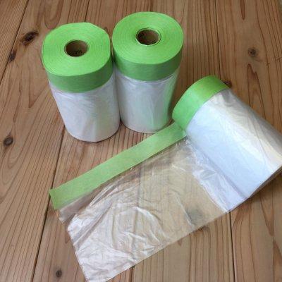 紙テープ付きポリマスカー ミドリ ◆オリジナル商品◆