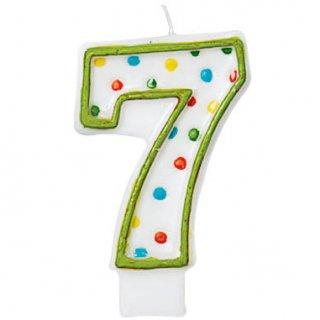 ナンバーキャンドル#7 ポルカドット<br>【Polka Dots】