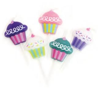 バースデーキャンドル カップケーキ<br>【Cupcakes】