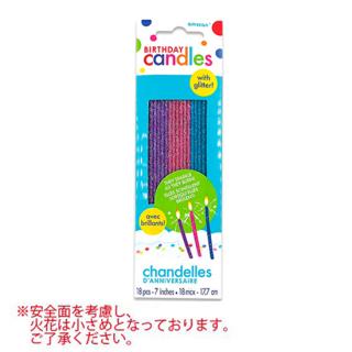 スパークリングキャンドル  グリッターフィニッシュ 火花 花火 ロウソク【Glitter Finish】