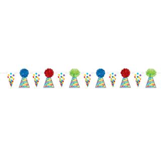 フラワーポムガーランド ブライト<br>【Bright Birthday】