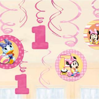 スワールデコレーション ベビーミニー<br>【Disney Baby Minnie】