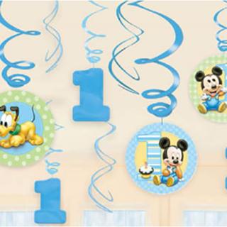 スワールデコレーション ベビーミッキー<br>【Disney Baby Mickey】