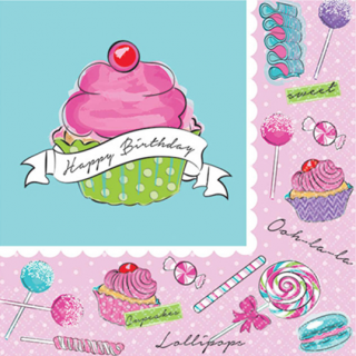 ペーパーナプキンS スウィーツ<br>【Sweet Birthday】