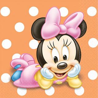 ペーパーナプキンS ベビーミニー<br>【Disney Baby Minnie】