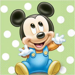 ペーパーナプキンS ベビーミッキー<br>【Disney Baby Mickey】