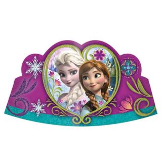 ペーパーティアラ(8枚入り) アナ&エルサ ディズニー フローズン アナと雪の女王 アナ雪<br>【Disney Anna&Elsa】