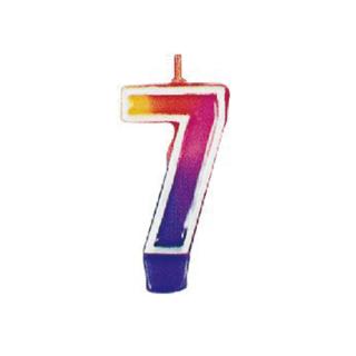 ナンバーキャンドル#7 マルチカラー<br>【Multi Color】