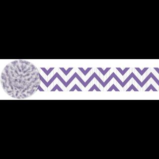クレープストリーマー シェブロンニューパープル<br>【Chevron New Purple】