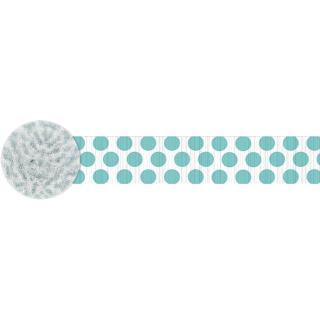クレープストリーマー ドッツロビンズエッグブルー<br>【Dots Robin's Egg Blue】