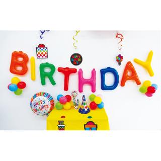 エアポップレターバルーンM バースデーセット<br>【Birthday Set】