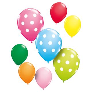 バルーン ポルカドットカラフルセット(8枚入り)<br>【Polka Dot Colorful set】