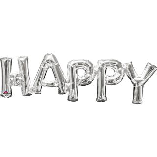 レターバルーン ハッピー シルバー<br>【Happy Silver】