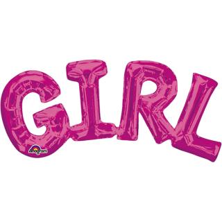 レターバルーン ガール ピンク<br>【Girl Pink】