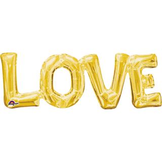 レターバルーン ラブ ゴールド<br>【Love Gold】