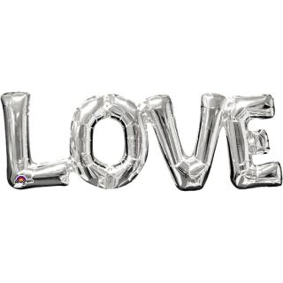 レターバルーン ラブ シルバー<br>【Love Silver】