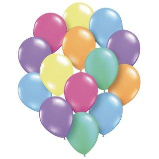バルーン カラフルパール  ゴム風船 丸型スタンダード  6色アソート カラフル 25cm(30枚入り)<br>【Pearl】
