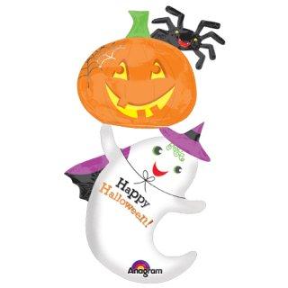 ハロウィン ゴーストアンドパンプキン かぼちゃ おばけ バルーン 風船 【HALLOWEEN】