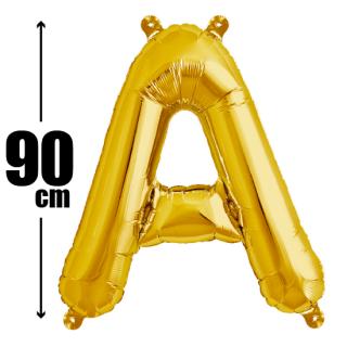 文字バルーン アルファベットバルーン 文字の風船【ゴールド】約90cm BIG風船