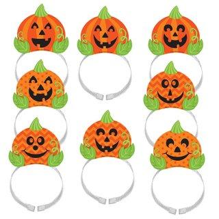 【8枚セット】キッズパーティー ハロウィン カチューシャ パンプキン ヘッドバンド  かぼちゃ  <br>【HALLOWEEN】