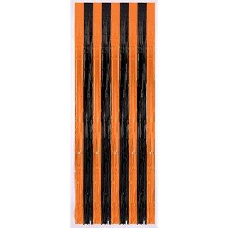 ハロウィン  カーテン  オレンジ  壁の飾り<br>【HALLOWEEN】