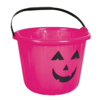ハロウィン パンプキンバケツ かぼちゃ ピンク <br>【HALLOWEEN】