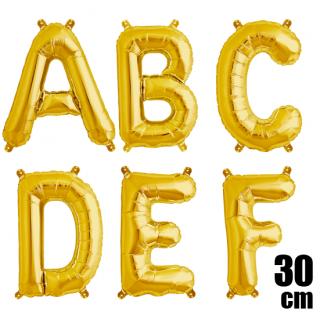 文字バルーン アルファベットバルーン 文字の風船【ゴールド】約30cm 風船