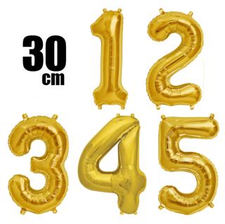 数字バルーン ナンバーバルーン【ゴールド】約30cm 風船