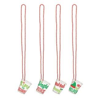 クリスマスパーティー  ネックレス クリスマスショットグラス 4本セット【 Christmas 】