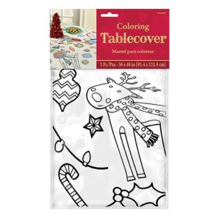 クリスマスパーティー  塗り絵 テーブルカバー クリスマスカラーイン【Christmas】