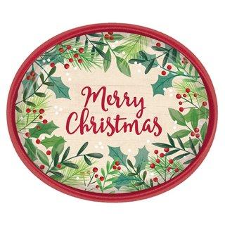 クリスマスパーティー  オーバルメリーホリーデー 8枚入り<br>【Christmas】