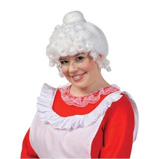 【クリスマスパーティー】ウィッグ ミセスクロース  サンタクロース奥さま サンタおくさま  マザークリスマス かつら【Christmas】