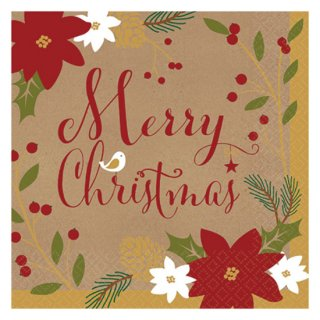 クリスマスパーティー ビバレッジナプキン メリーリトルクリスマス  36枚入り 【Christmas】