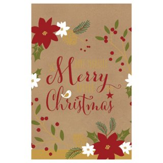 クリスマスパーティー  ペーパーテーブルカバー メリークリスマスオールオーバー【Christmas】