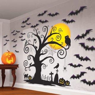 ハロウィン  モダンメガバリューパック シーンセッター ウォールデコキット   壁の飾り<br>【HALLOWEEN】