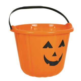 ハロウィン パンプキンバケツ かぼちゃ オレンジ <br>【HALLOWEEN】