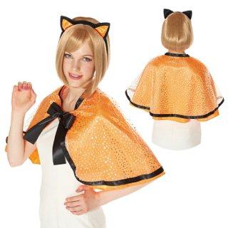 【大人用】キャットケープセット  キャットカチューシャ  猫耳 ハロウィン クリスマス コスプレ 仮装  衣装