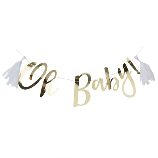 【Ginger Ray】レターバナー Oh Baby! ゴールド<img class='new_mark_img2' src='https://img.shop-pro.jp/img/new/icons1.gif' style='border:none;display:inline;margin:0px;padding:0px;width:auto;' />