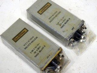 Western Electric 1500V 0.5MFD×2 D163708 COND 2個 [18137]
