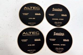 ALTEC 515C/416-8B ネームプレート 各2枚 計4枚 [18721]