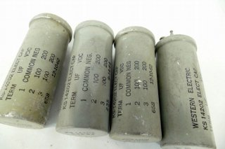 Western Electric KS-14202 100MFD×2 200V 4個 保証外品 [21163]