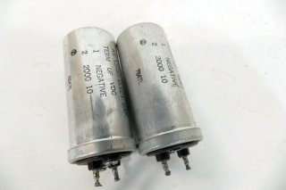 Western Electric KS-13687 2000MFD 10V 2個 保証外品 [21167]
