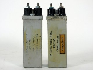 Western Electric D162003 400V 4MFD 2個 [21836]